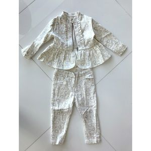 Baby Girl Matching Jacket and Denim Pants set